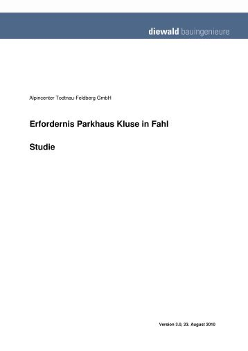 Erfordernis Parkhaus Kluse in Fahl