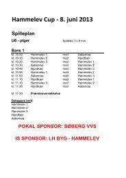 Hammelev Cup - 8. juni 2013 - Hammelev SUF Fodbold
