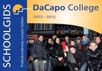 Schoolgids, locatie Geleen - DaCapo College