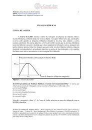 FINANÇAS PÚBLICAS CURVA DE LAFFER A Curva de Laffer ...