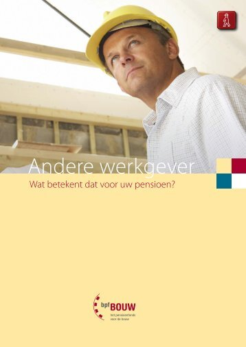 Andere werkgever - BPF bouw