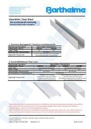 Datenblatt / Data Sheet - Barthelme Gmbh & Co. KG