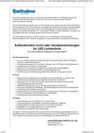 Außendienstler (m/w) - Barthelme GmbH & Co. KG