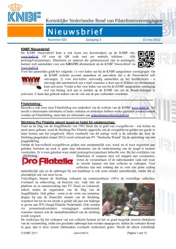 025 knbf mei 2012 - Eerste Kerkraadse Philatelisten Vereniging