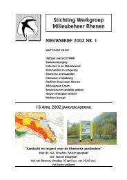 Nieuwsbrief - 2002 - Nr1 - Stichting WMR