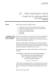 Hvis coaching er svaret – hvad var så spørgsmålet - Colea Consult