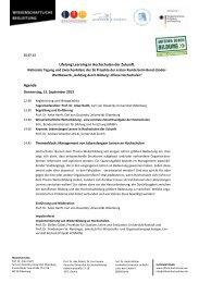 Tagungsprogramm - Aufstieg durch Bildung: Offene Hochschulen
