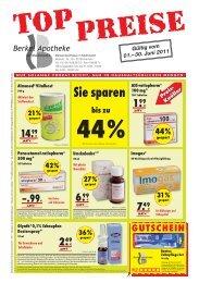 Sie sparen - Basberg-Apotheke