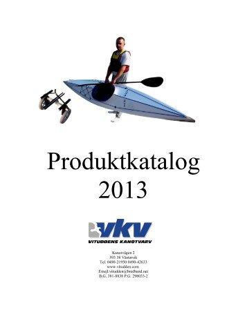 2013 års produktkatalog finns nu här. - Vituddens Kanotvarv