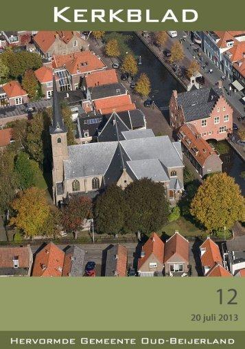 Kerkblad 12 (20 juli 2013). - Hervormde Gemeente
