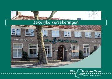 Zakelijke verzekeringen - Bles & Van Der Does