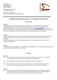 Download het huishoudelijk reglement - Sportclub Wijchen