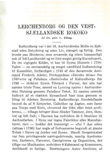 Lerchenborg og den vestsjællandske Rokoko