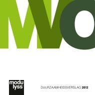 DUURZAAMHEIDSVERSLAG 2012 - Modulyss