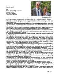 Fællesbrev no. 20 Fællesbrev no. 20 Fra Lisbeth & Steen M øllgaard ...