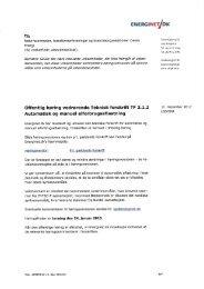 Offentlig høring vedr. Teknisk forskrift TF 2.1.2 ... - Energinet.dk