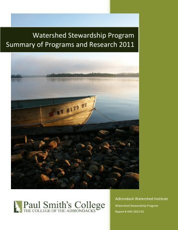 2011 Report - Adirondack Park Invasive Plant Program