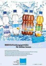 BÄKO Erfrischungsgetränke für kühlen Genuss - BÄKO Gruppe Nord