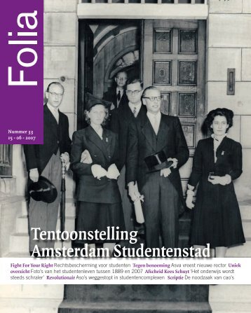 Tentoonstelling Amsterdam Studentenstad