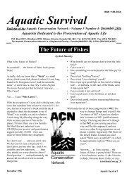 Aquatic Survival - Native Fish Lab of Marsh & Associates LLC