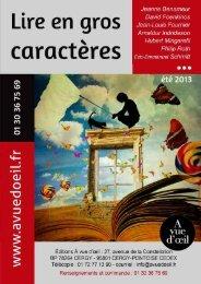 Le catalogue été 2013 (1 Mo) - A vue d'oeil