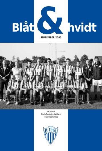 """Bl""""t og hvidt sept. 2005 - Senior - DBU"""