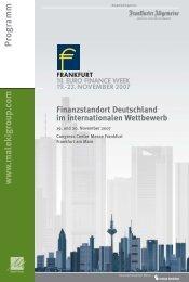Finanzstandort Deutschland im internationalen Wettbewerb