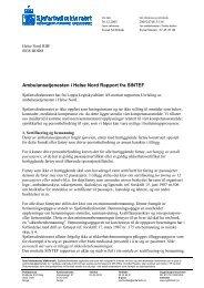 Ambulansetjenesten i Helse Nord Rapport fra ... - Helse Finnmark