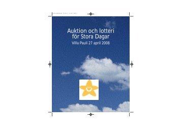 Auktion och lotteri för Stora Dagar - Min stora dag