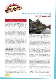 Haven van rust Broodje Brussel wandeling - UiT in Brussel