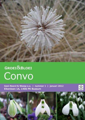 Convo 1-2012 - Gooi-Noord - Groei & Bloei