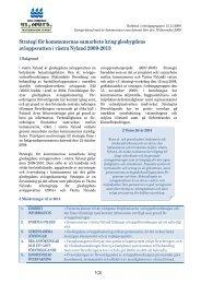 Strategi för kommunernas samarbete kring glesbygdens ...