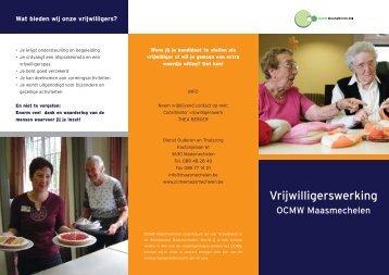 Vrijwilligerswerking - OCMW Maasmechelen