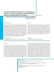 Die kieferorthopädisch-prothetische Versorgung von Patienten mit ...