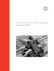 Bain report customer loyalty in retail banking - Bain & Company