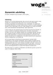 Dynamisk udvikling - WOGN