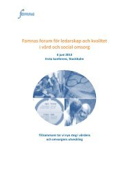 Famnas forum för ledarskap och kvalitet i vård och social omsorg