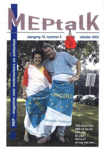 MEPtalk 2004-5 - eTNOs