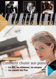 Les clés du piano N°2 - Piano Dupuis
