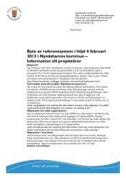 Information RH2000 till projektörer - Nynäshamns kommun