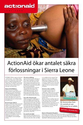 ActionAid ökar antalet säkra förlossningar i Sierra Leone