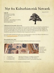 Nyt fra Kulturhistorisk Netværk