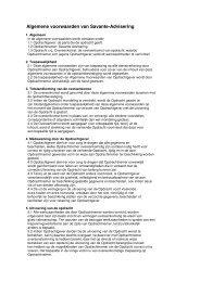 Algemene Voorwaarden - Savante-advisering