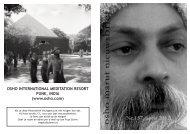 OSHO INTERNATIONAL MEDITATION RESORT ... - Osho Marut