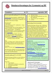 Nyhedsbrev nr. 23 - Datalærerforeningen for gymnasiet og HF