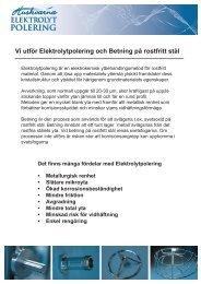 Vi utför Elektrolytpolering och Betning på rostfritt stål - AB Huskvarna ...