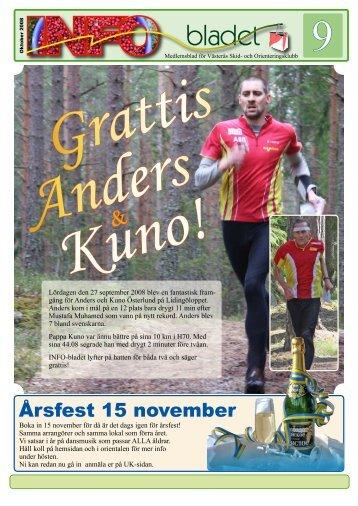 Årsfest 15 november - Västerås SOK