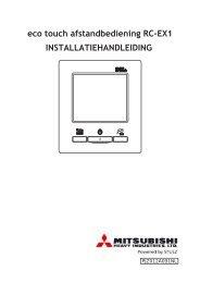 Eco Touch installatie handleiding - Stulz MHI
