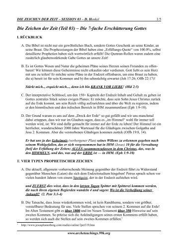 Die Zeichen der Zeit (Teil 03) – Die 7-fache ... - Arche Teachings