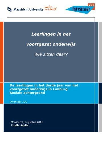 Leerlingen in het voortgezet onderwijs Wie zitten daar? - kaans.nl